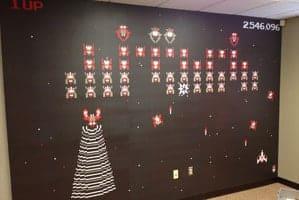 drum creative galaga internal wall design