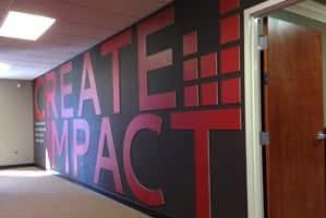 Drum-Creative-internal-wall-create-impace-logo