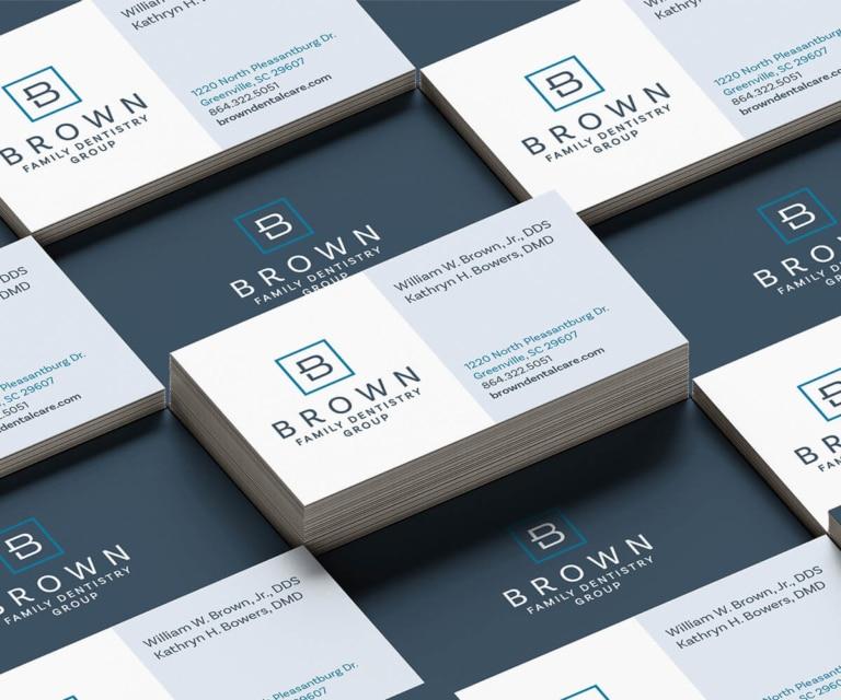brown-dental-business-card