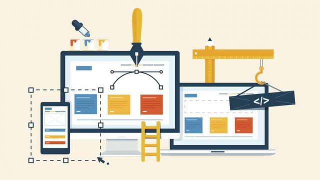 customized web design illustration
