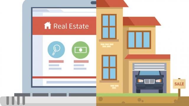 web design for real estate with SEO illustration