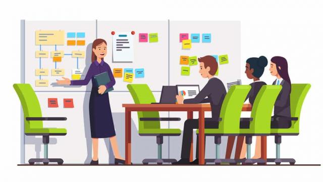 expert web design team working on a website strategy